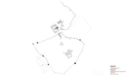 implantação no centro histórico de Évora