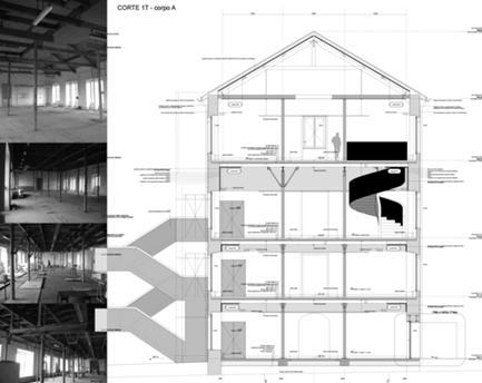 secção transversal edifício existente A
