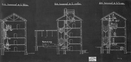 (blueprints) secções transversais antiga fábrica