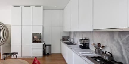 Vista da Cozinha e Sala