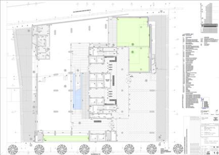 Planta do piso+1 - Átrios, Zonas Comuns, Espaços Comerciais