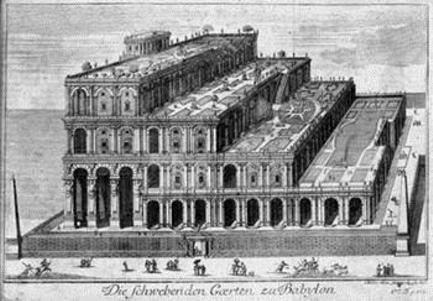 Jardins Suspensos da Babilónia, autor desconhecido,1726