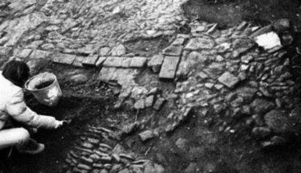 Calçada Romana (imagem de escavações arqueológicas)